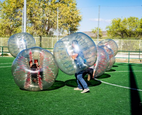 Bubble football Madrid Team Building - DESTINATION MADRID