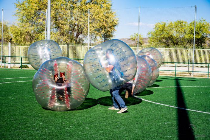 Bubble football Madrid Team Building - DESTINATION MADRID