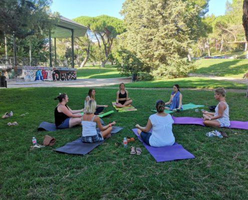 Cours de yoga à Madrid
